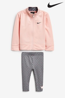 Nike Infant Pink Zip Through Top And Leggings Set