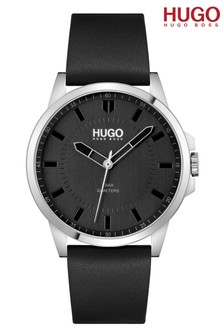 HUGO First Leather Strap Watch