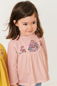 Embroidered Long Sleeve Blouse (3mths-7yrs)