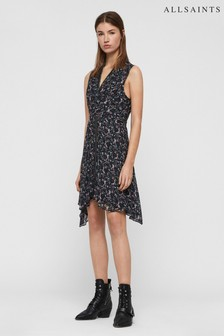 AllSaints Black Floral Print Jayda Dress