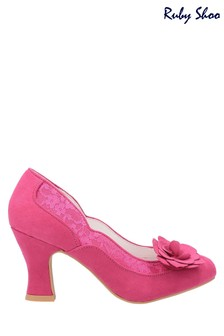 Ruby Shoo Pink Chrissie Louis Heeled Court Shoes