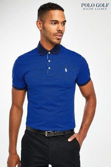 Ralph Lauren Polo Golf Navy/Blue Stripe Poloshirt