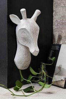 Drewniana plakietka ścienna z głową żyrafy