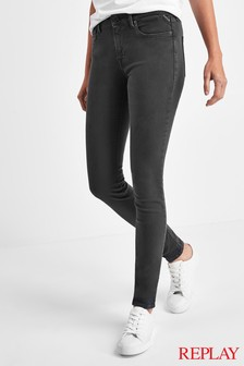 Replay® Stella Hyperflex High Waist Super Skinny Fit Jeans