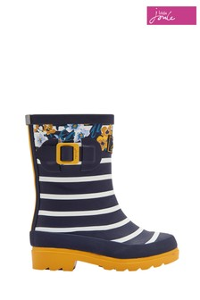 Joules Navy Botanical Printed Welly