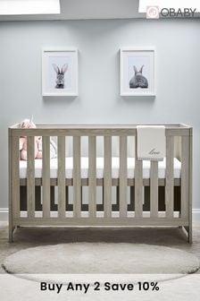 Obaby Nika Grey Cot Bed