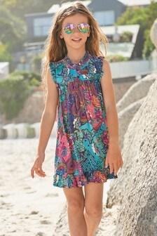 Tropical Print Dress (3-16yrs)