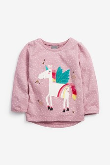 Unicorn Appliqué T-Shirt (3mths-7yrs)