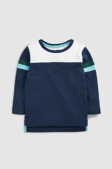 Long Sleeve Colourblock T-Shirt (3mths-7yrs)