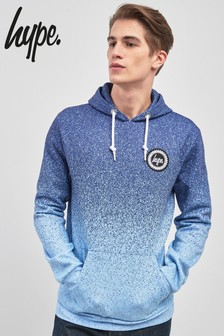 Hype. Blue/White Speckle Fade Hoody