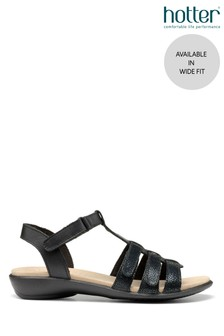 Hotter Sol Wide Fit Touch Fastening Open Sandals