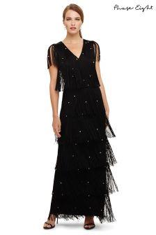 Phase Eight Black Fringe Dress