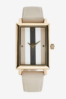 Rectangle Case Stripe Watch