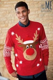 Pullover mit Rentier- und Schneeflockenmotiv - Herren
