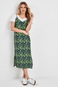 42727c523423 Vzorované šaty se špagetovými ramínky