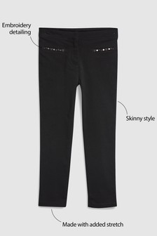 Embroidered Skinny Trousers (3-16yrs)