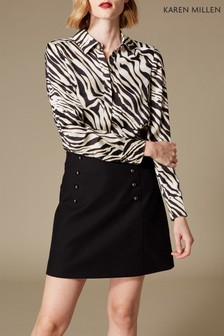 Karen Millen Animal Zebra Print Shirt