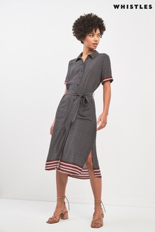Whistles Foulard Stripe Montana Shirt Dress