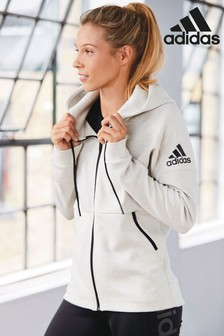 adidas Raw White ID Stadium Zip Through Hoody