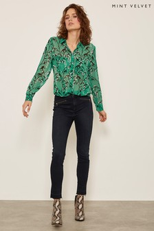 Mint Velvet Blue Ohio Zip Detail Jegging