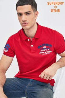 Superdry Red Classic Poloshirt