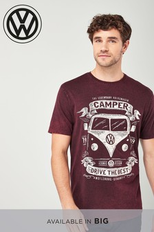 Volkswagen-T-Shirt in Acid-Waschung