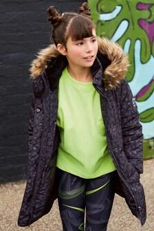 Jachetă căptușită impermeabilă cu imprimeu (3-16ani)