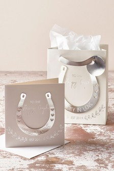 Happy Couple Wedding Card And Gift Bag
