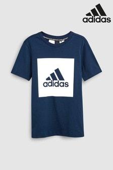 adidas Navy Box Logo T-Shirt