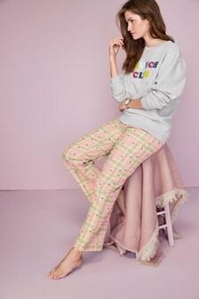 Cotton Wide Leg Pyjama Pants