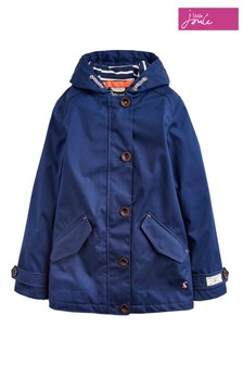 Joules Blue Coast Girls Hooded Coat