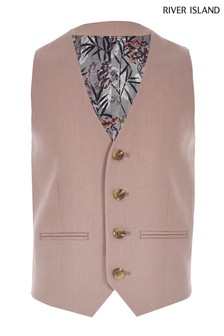 River Island Pink Suit Waistcoat