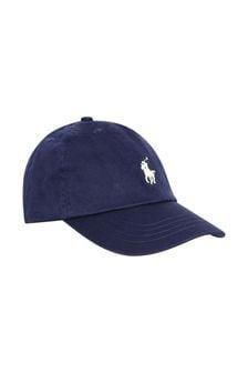 Boys Navy Cotton Classic Cap