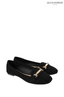 Accessorize Black Snaffle Detail Slippers