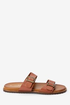 Forever Comfort® Double Buckle Footbed Sandals