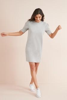 Tie Sleeve Sweat Dress
