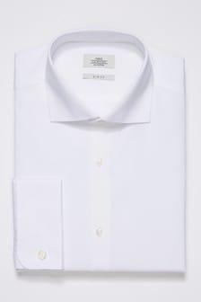 Рубашка с укороченным воротником из хлопка