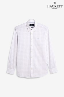 Hackett Red Micro Gingham Check Shirt