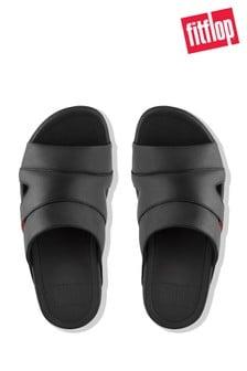 Черные кожаные пляжные сандалии FitFlop™ Freeway