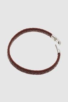 Leather Weave Bracelet