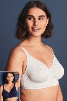 Georgie Supersoft Non Padded Wired Bras Two Pack