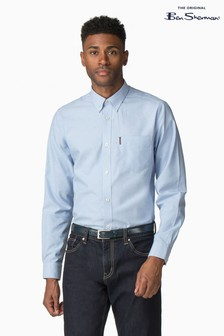 Ben Sherman Blue Plain Oxford Shirt
