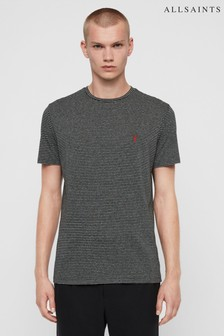 AllSaints Grey/Black Stripe Dalston T-Shirt