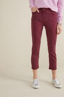 Verkürzte Jeans mit weicher Haptik