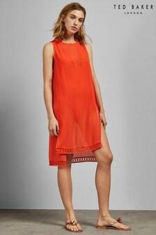 Ted Baker Eltree Orange Step Hem Dress Cover Up