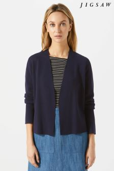 Jigsaw Blue Clean Knit Jacket