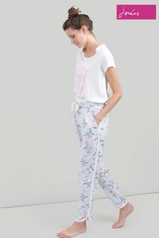 Joules Grey Josephine Curved Hem Jogger