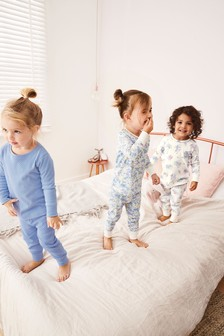 Ditsy Snuggle Pyjamas Three Pack (9mths-8yrs)