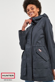 Hunter Womens Navy Original Cotton Hunting Coat