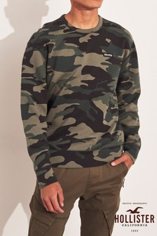 Hollister Camo Crew Sweater